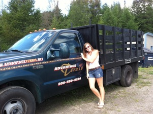 Nicquelle with Joe the Truck