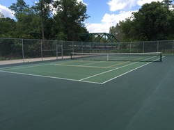 Tennis Court with Pickleball Lines